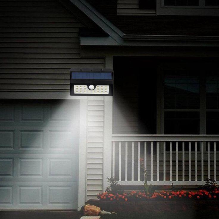 20 LED Solar Powered Motion Sensor Light Outdoor Solar Led Flood Lights Spotlights Garden Patio Pathway Lamps Emergency Lighting