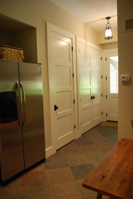 Old Home Interior | We used a 4 panel recessed door. I wanted 5 panel as its a more ...