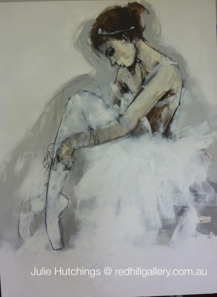 "Julie Hutchings figurative painting ""Dancer"". Red Hill Gallery, Brisbane. redhillgallery.com.au"