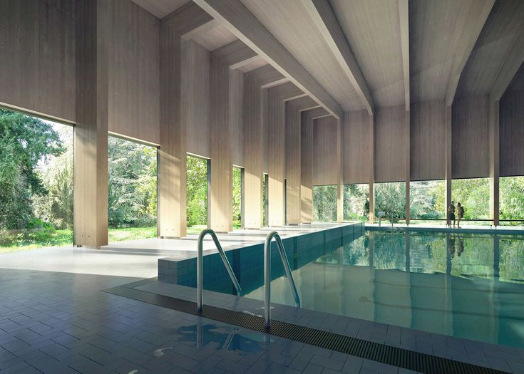 Hawkinsbrown designs pool that will give the sense of for Pool design london