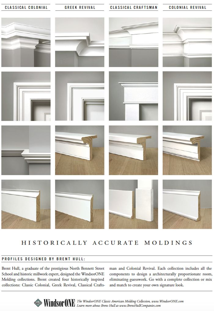 Colonial Style Baseboard Molding