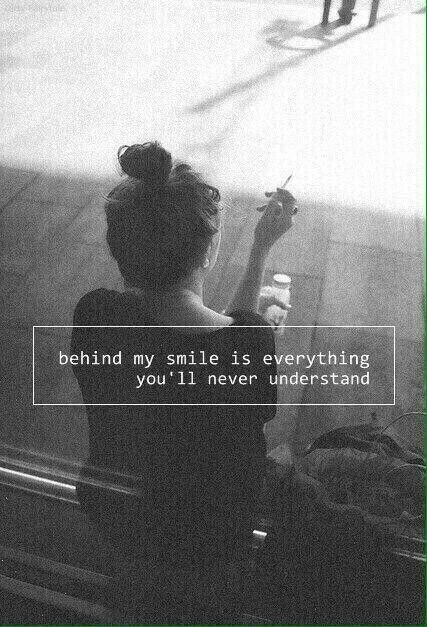 And I Just Smile Sad Teens W Happy Faces Quotes Sad Quotes
