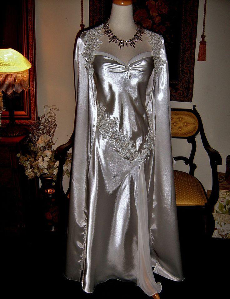 Ivy Amp Annabelle Bridal Bias Cut Nightgown Gloss Liquid