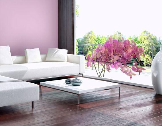 Vinilo adhesivo Ramo de flores - orquídeas una decoración bonita fácil de poner y quitar de la pared, una gran variedad de estilos y colores en la colección de bimago