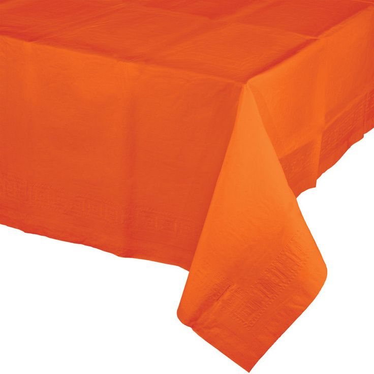 Check out the deal on Sunkissed Orange Paper Tablecloths - 54 x 108 Inch at Discount Party Supplies - My Paper Shop