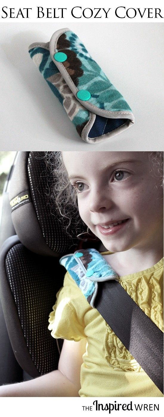Sewing Tutorial: Seat Belt Cozy Cover -- great scrap buster perfectly sized for kids!   The Inspired Wren