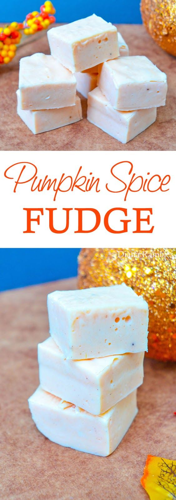 Pumpkin Spice Microwave Fudge #pumpkin #fudge