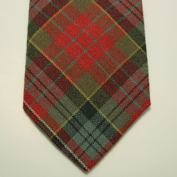 Vtg Macpherson Tartan Red Green Plaid 100 Percent Wool