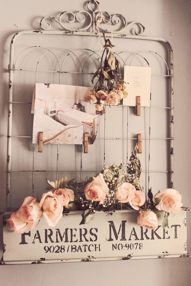 By Trios Petites Filles Home Goods addiction and fabric wall treatment (http://triospetitesfilles.blogspot.com (vintage gate & sign wall decor)