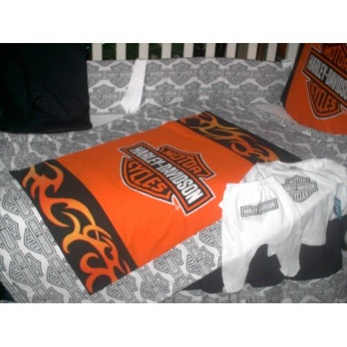 This Ones Really Cute Too Harley Davidson Crib Bedding