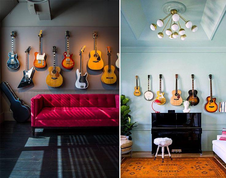 Instrumentos musicais na decoração