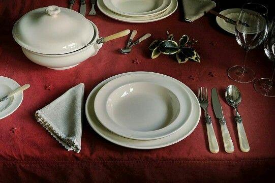 Mooi gedekte kerst tafel met napoleonbestek Www.napoleonbestek.nl