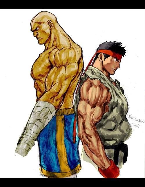 Ryu and sagat