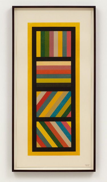 Bands of Color in Four Directions (Vertical), 1995, by Sol LeWitt