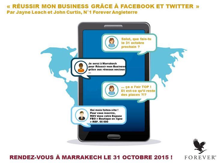 ❊ FORMATION MARRAKECH 2015 ❊ Donnons-nous rendez-vous à Marrakech le 31 octobre prochain pour une formation encore jamais vue !!!  > CLIQUEZ SUR L'IMAGE POUR L'AFFICHER EN GRAND < ■ Pour réserver directement votre place, rendez-vous sur www.foreverliving.fr dans votre Boutique en ligne > REF.55 000 ■ Besoin de plus précises informations ?  Connectez-vous à votre Espace FBO > Tableau de bord > Dernières actualités > Formation.