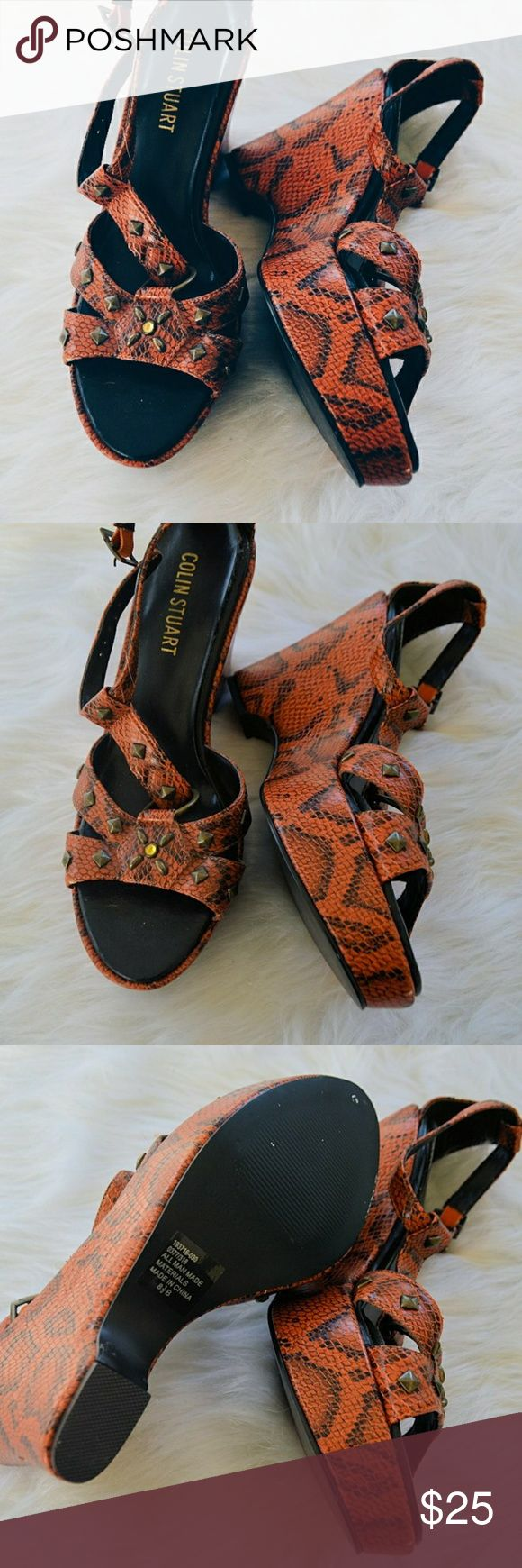 Colin Stuart Orange Snakeprint Summer Wedges Colin Stuart Orange Snakeprint Summer Wedges Embellished Details. New - Only tried on. Size 8.5 Bundle to save. Colin Stuart Shoes Wedges