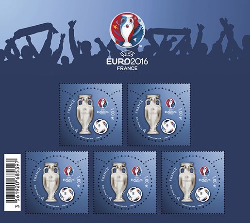 EURO 2016 Stamps France Block