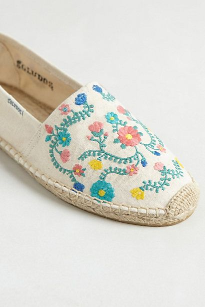 Floral Vines Espadrilles #anthropologie
