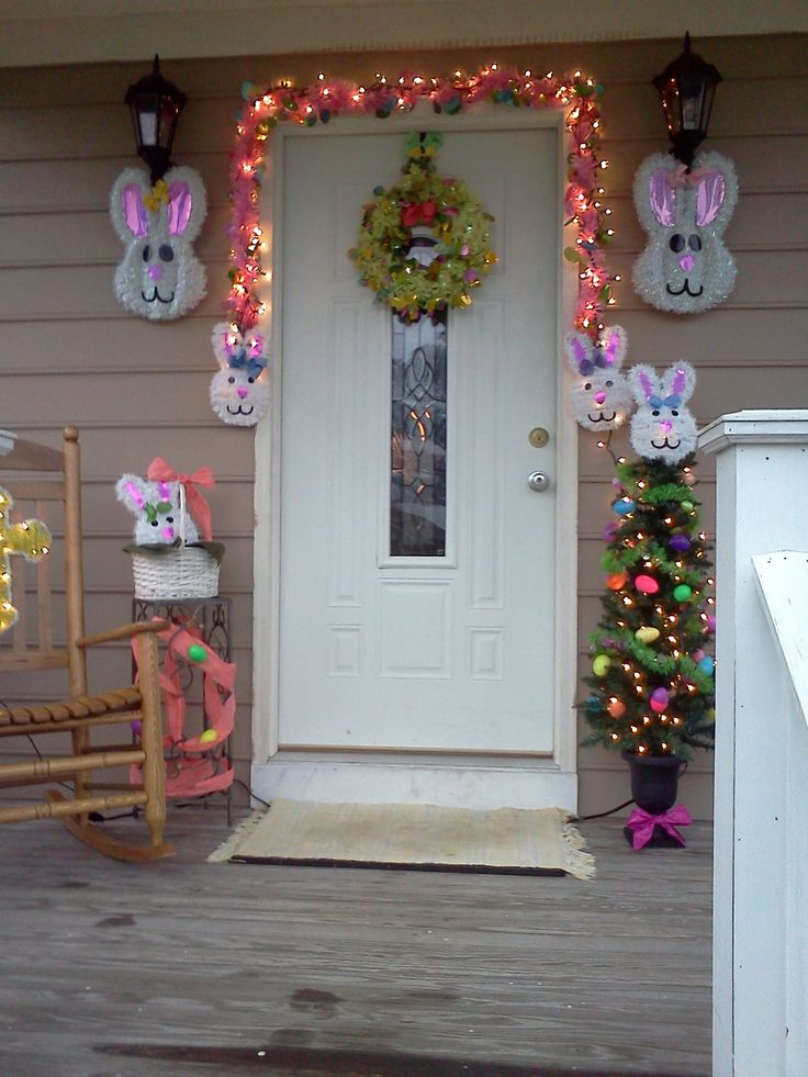 Easter Time Light Decor Easter Door Porch Outdoor