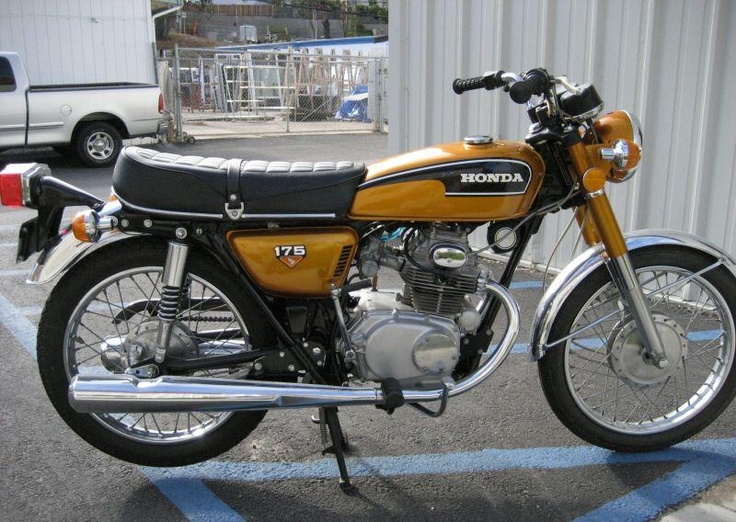 1972 Honda CB175 - My first motorcycle. Such fun!