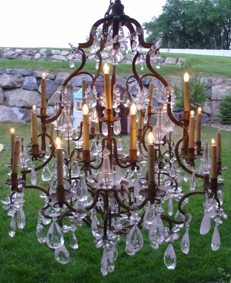 French Antique 18th Century Rock Crystal Chandelier  www.parispanacheantiques.com - 657 Best Lighting Images On Pinterest Appliques, Chandeliers And