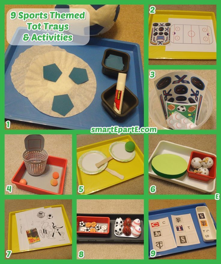9 Sports Tot Trays And Toddler Activities