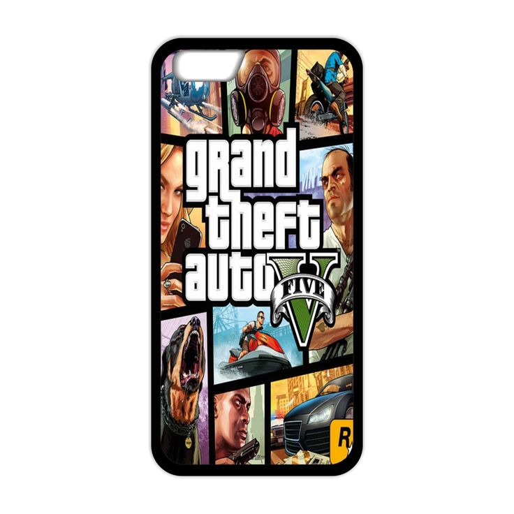 Grand theft auto gta 5 case for iphone 4 4s 5 5s 5c se 6 6 s 7 plus de samsung s3 s4 s5 mini s6 s7 edge plus a3 a5 A7 - free shipping worldwide