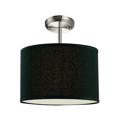 Z-Lite 171-12 Albion Semi Flush Ceiling Light, Brushed Nickel