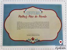"""O dia daquela pessoinha muito especial pra gente está chegando♥ O Dia das Mães! E se eu te perguntar, quem é a melhor? Sempre será a sua, né? Então ela merece o prêmio de Melhor Mãe do Mundo!♥   MOLDES Versão para filha Versão para filho  Materiais  Cola Tesoura Moldes impressos  O Kit Melhor Mãe do Mundo acompanha uma medalha de premiação, um certificado e algumas tags fofas, pra você usar como e onde quiser. A minha ideia é espalhar pela casa e deixar a tag """"melhor mãe"""" por últi..."""