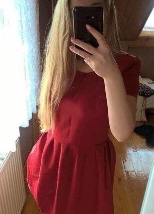 Kup mój przedmiot na #vintedpl http://www.vinted.pl/damska-odziez/krotkie-sukienki/17318761-czerwona-sukienka-rozkloszowana-rekaw-zara