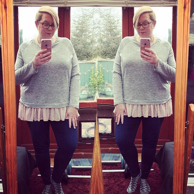 Todays ootd top from Primark jeans from Simply Be. #psootd #andigetdressed #fatshion #psblogger #saturdayoutfit