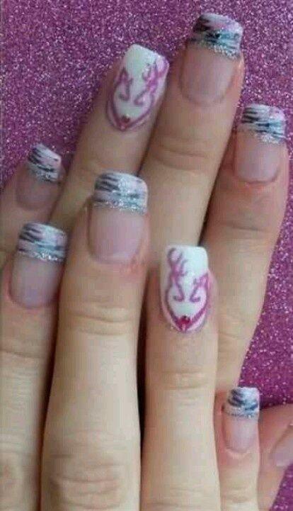 camoflage+finger+nails | Browning Camo Nails | Nails
