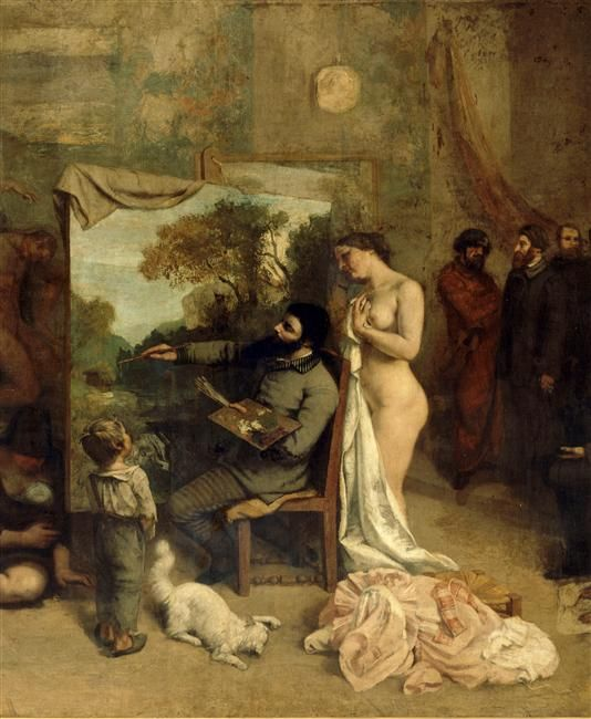 Gustave Courbet 'L'Atelier du peintre'