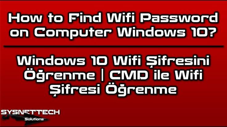 How to Find Wifi Password on Computer Windows 10? | SYSNETTECH Solutions --------------------------------------------------------------------------------- Read the Article ► https://www.youtube.com/watch?v=SSyeVTAsKeU --------------------------------------------------------------------------------- #Windows #Windows10 #Windows8 #Windows7 #Windows81 #OperatingSystem #İşletimSistemi #WifiŞifresiKırma #Wifi #WifiPassword #FindWifiPassword