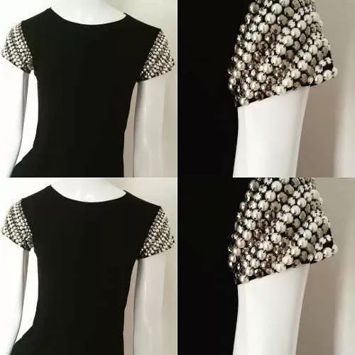 Tshirt Blusa Bordada À Mão Pedraria Feminina - R$ 69,00