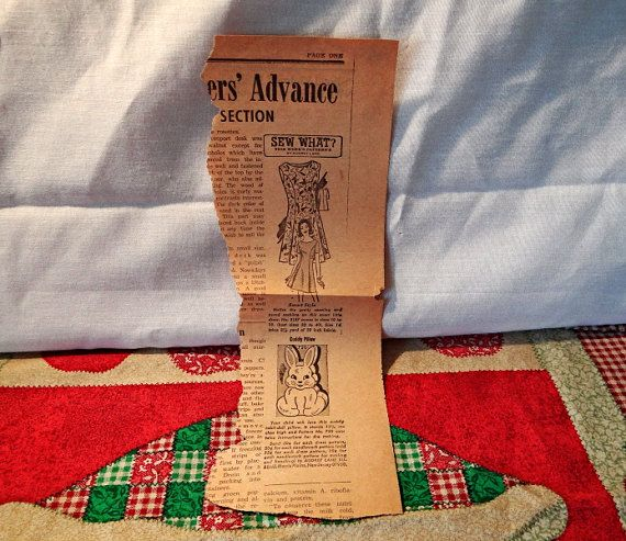 Old Newspaper Article Vintage mail order by VickiesVintageroom