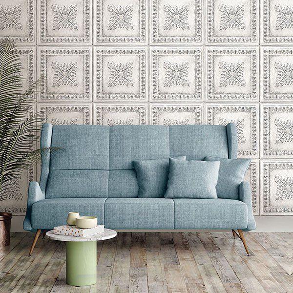 Nuwallpaper Reclaimed Tin Peel Stick Wallpaper Walmart Com Nuwallpaper Wall Coverings Home Decor