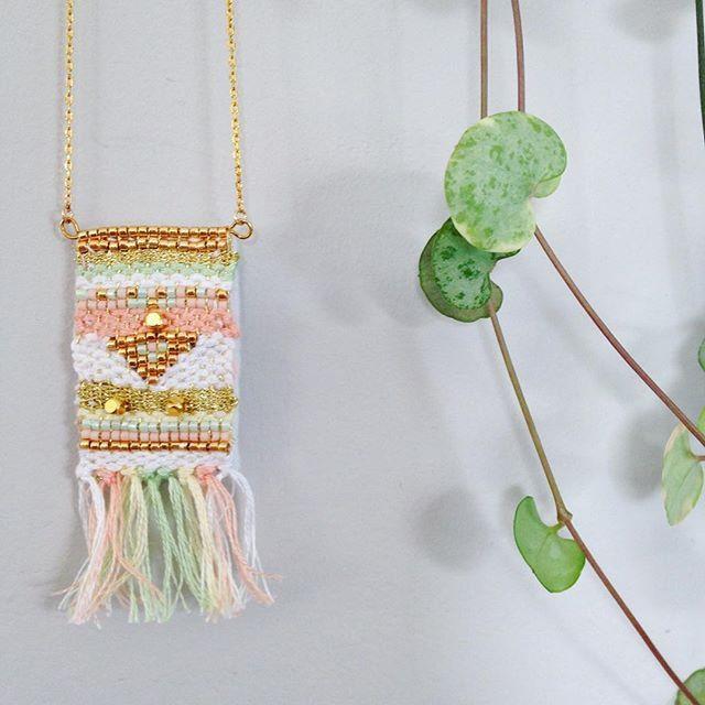 Tissage au mélange de perles miyuki et laine ★ www.la-petite-epicerie.fr ★Tutos et fournitures de DIY
