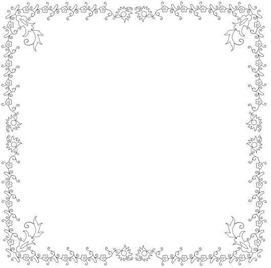 Dibujos de Mallorca - Frame | Embroidery Patterns - Borders ...