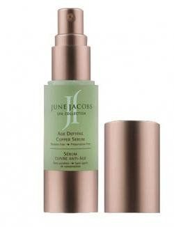 June Jacobs Age Defying Copper Serum by June Jacobs. Save 22 Off!. $120.25. A skin firming, anti-aging serum that contains no preservatives or parabens.. This powerful age defying serum with a multi-mineral complex, composed of copper, zinc and magnesium helps to increase skin elasticity, tighten sagging skin and improve skin texture and tone. Peelmoist helps stimulate cell turnover, while hydrolyzed soy, elastin and collagen combined with vitamins C, E, pro vitamin B5 and ...