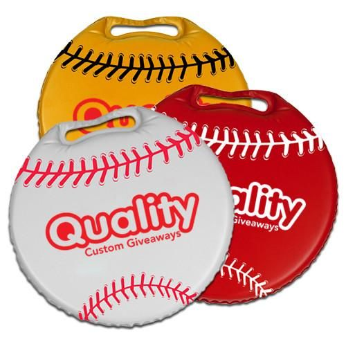 "13.5"" Round Stadium Cushion - Phthalate-compliant (Q799375)"