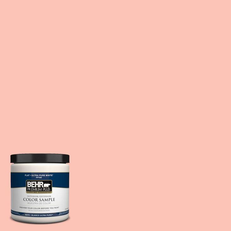 behr premium plus 8 oz 190a 3 salmon peach interiorexterior paint sample