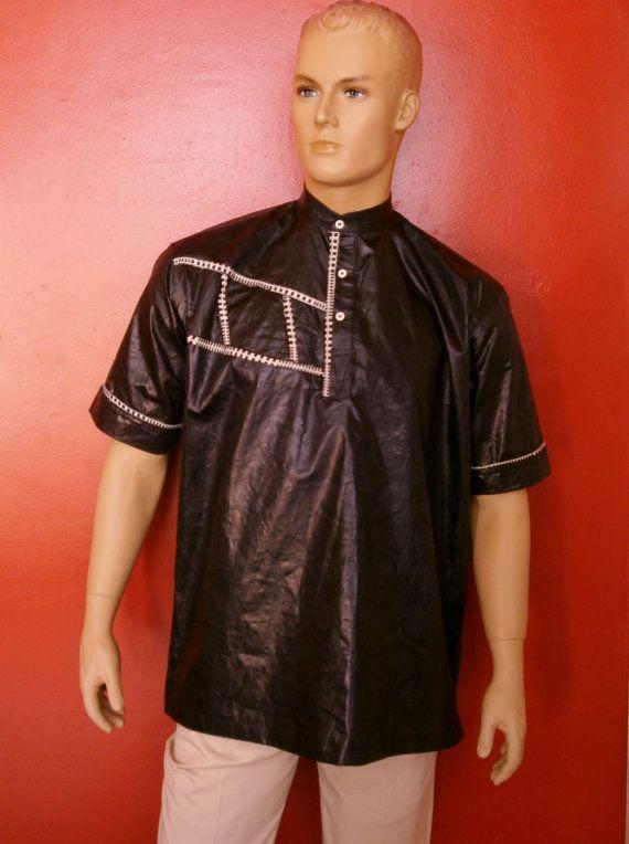 shirt art motif black for men Dashiki/ trendy 2015 bazin attiude