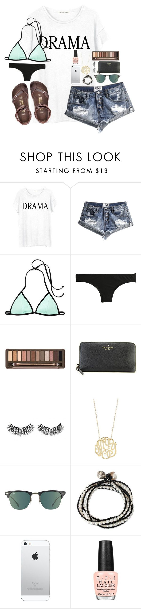 """""""TYSM FOR 1.9K OMG YALL R THE BEST"""" by lydia-hh ❤ liked on Polyvore featuring Junk Food Clothing, One Teaspoon, Birkenstock, J.Crew, Urban Decay, Kate Spade, Rimini, Ginette NY, Ray-Ban and NOVICA"""