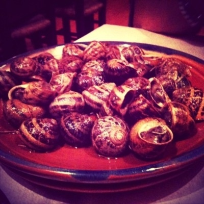 """Ow yes… In Greece they claim Snails as one of the best """"Meze"""" (tapas).   Try it… and then criticise please.. ;-)    http://lomozakis.tumblr.com/post/23115939220/snails"""