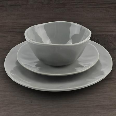 Lisse 12 Piece Grey Dinner Set