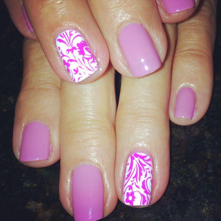 Summer nail art gelish Mundo de unas