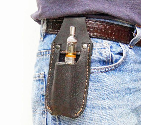 Leather E-Cig Belt holster * Belt Pouch * Hand Made from Genuine leather * Vape case * Vape Holster * Gift Box * E Cig case