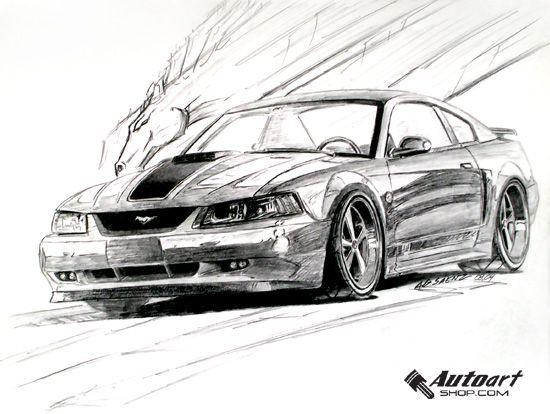 Mach 1 Mustang Sketch Alf S Art Amp Photography Sn95