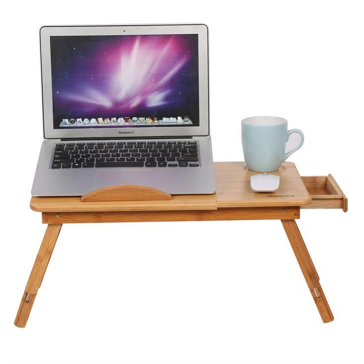 mode portable pliant bamboo pour ordinateur portable table. Black Bedroom Furniture Sets. Home Design Ideas